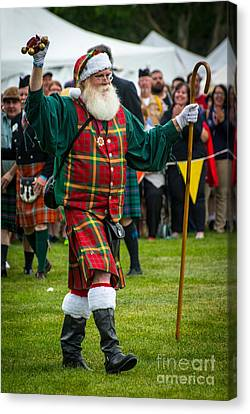 Santa Claus - Scottish Festival And Highland Games Canvas Print by Gary Whitton