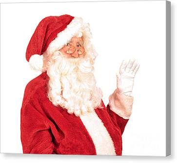 Father Christmas Canvas Print - Santa Claus Waving Hand by Amanda Elwell