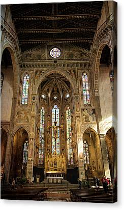 Santa Croce Florence Italy Canvas Print by Joan Carroll