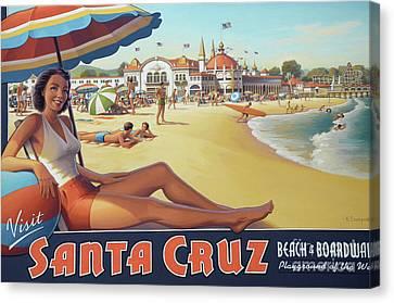 Santa Cruz For Youz Canvas Print by Bob Christopher