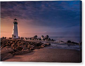 Santa Cruz Harbor Walton Lighthouse Canvas Print