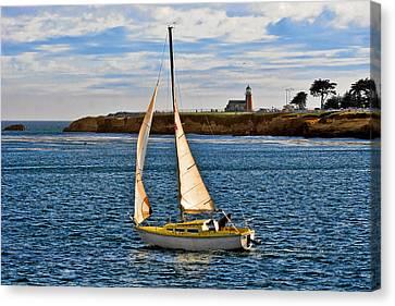 Guard Canvas Print - Santa Cruz Mark Abbott Memorial Lighthouse Ca  by Christine Till