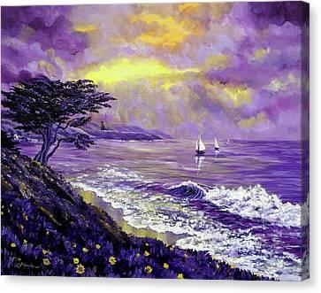 Santa Cruz Rhapsody Canvas Print by Laura Iverson