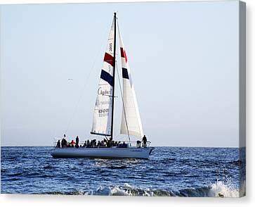 Santa Cruz Sailing Canvas Print