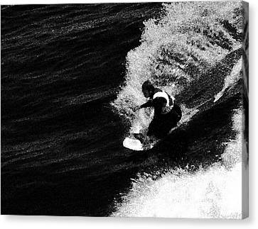 Santa Cruz Surfer Dude Canvas Print by Norman  Andrus