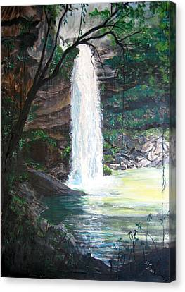 Santa Emelia Waterfall Canvas Print