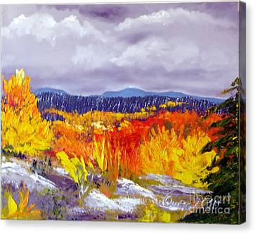 Santa Fe Aspens Series 1 Of 8 Canvas Print