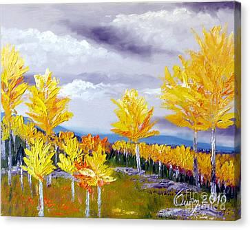 Santa Fe Aspens Series 3 Of 8 Canvas Print