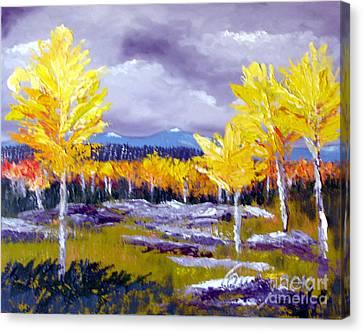 Santa Fe Aspens Series 4 Of 8 Canvas Print