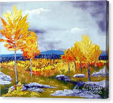 Santa Fe Aspens Series 6 Of 8 Canvas Print