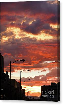 Canvas Print - Santa Fe At Dusk New Mexico by Julia Hiebaum
