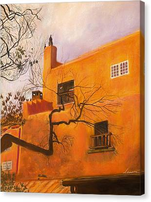 Santa Fe Building Canvas Print by Leonor Thornton