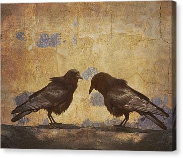 Santa Fe Crows Canvas Print by Carol Leigh