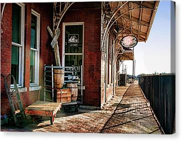 Santa Fe Depot Of Guthrie Canvas Print
