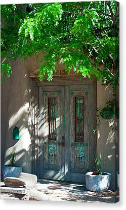 Santa Fe Door Canvas Print by David Patterson