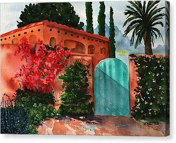 Santa Fe Dwelling Canvas Print by Sharon Mick