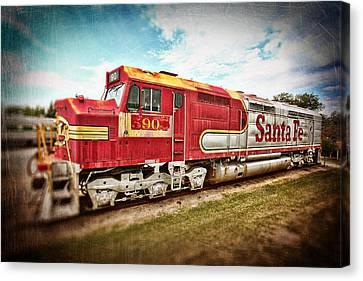 Santa Fe Locomotive Canvas Print by Charrie Shockey