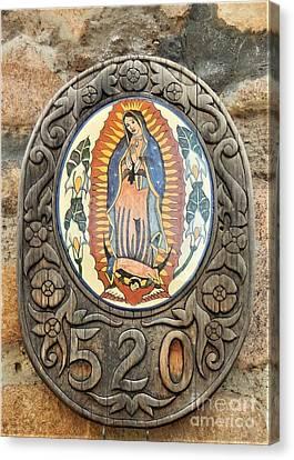 Santa Fe Madonna Canvas Print by Ann Johndro-Collins