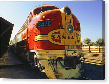 Santa Fe Railroad Canvas Print by Art America Gallery Peter Potter