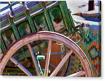 Canvas Print featuring the photograph Santa Fe Spokes by Stephen Anderson