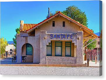 Canvas Print featuring the photograph Santa Fe Station by Stephen Anderson