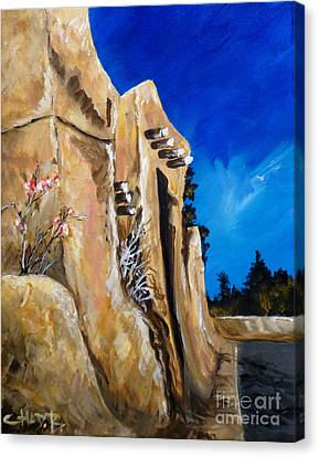 Santa Fe Stroll Canvas Print by Chad Berglund