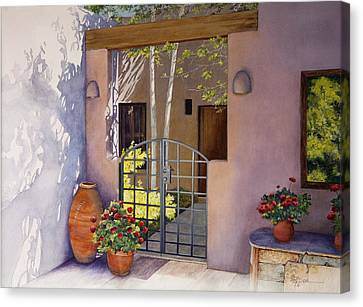 Santa Fe Sunlit Patio Canvas Print