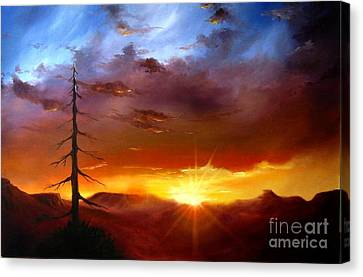 Santa Fe Sunset Canvas Print