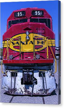 Santa Fe Train Head On Canvas Print by Garry Gay