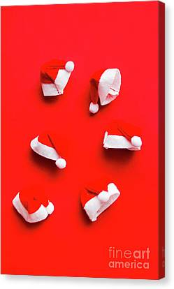 Santa Hat Party Canvas Print