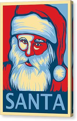 Santa Hope Canvas Print by David Kyte
