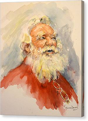 Santa Is That You Canvas Print by P Maure Bausch