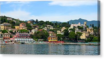 Santa Margherita Harbor Canvas Print