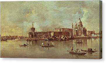 Santa Maria Della Salute Seen From The Mouth Of The Grand Canal Canvas Print by Francesco Guardi
