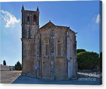 Church Canvas Print - Santa Maria Do Carmo Church In Lourinha. Portugal by Angelo DeVal