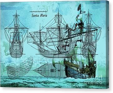 Haiti Canvas Print - Santa Maria by Edelberto Cabrera