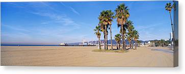 Amusements Canvas Print - Santa Monica Beach Ca by Panoramic Images