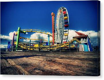 Santa Monica Canvas Print by Chris Multop