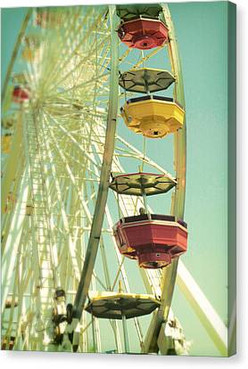 Canvas Print featuring the photograph Santa Monica Ferris Wheel by Douglas MooreZart