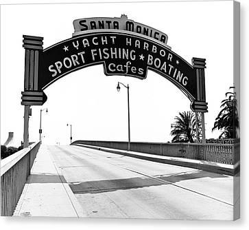 Santa Monica Pier Arch Canvas Print by Joe  Palermo
