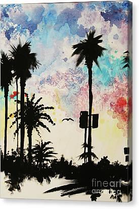 Santa Monica Pier - Center Two Of Three Canvas Print