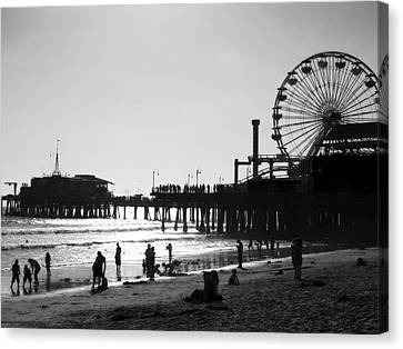 Santa Monica Pier Canvas Print by John Gusky