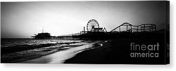 Santa Monica Pier Panorama Photo Canvas Print