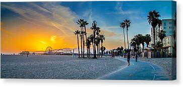 Santa Monica Sunset Canvas Print by Az Jackson