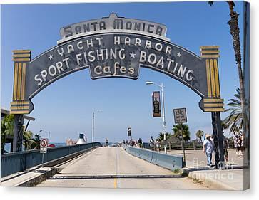 Santa Monica Yacht Harbor At Santa Monica Pier In Santa Monica California Dsc3665 Canvas Print by Wingsdomain Art and Photography