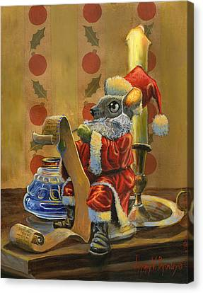Santa Mouse Canvas Print by Jeff Brimley