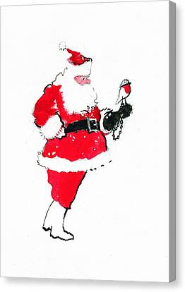 Santa Robin Falconry Canvas Print by George Adamson