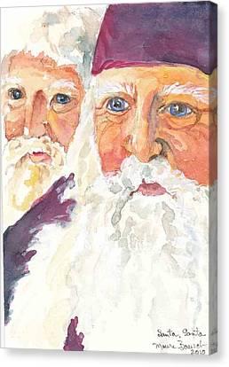 Santa Santa Canvas Print by P Maure Bausch