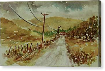 Canvas Print featuring the painting Santa Teresa County Park California Landscape 3 by Xueling Zou