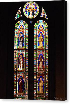 Santa Trinita Stained Glass Canvas Print by Ginger Repke